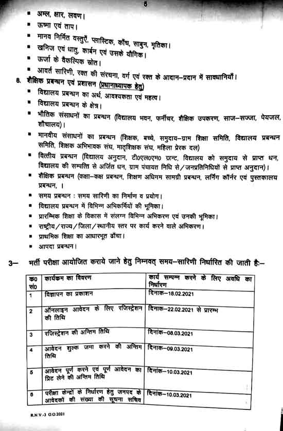 UP Junior Teacher Vacancy 2021 Form, Fee, G.O., Notification & Important Dates 4