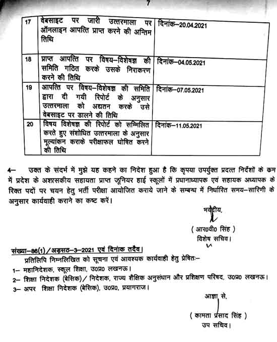 UP Junior Teacher Vacancy 2021 Form, Fee, G.O., Notification & Important Dates 6